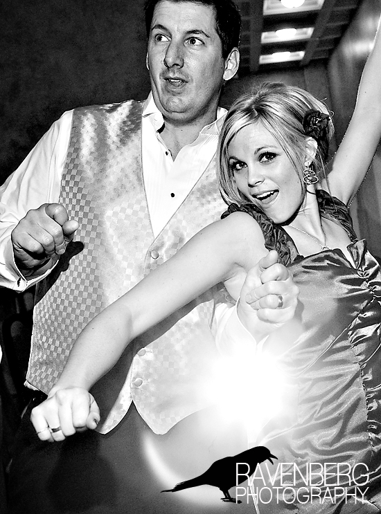 dancing and party wedding photos