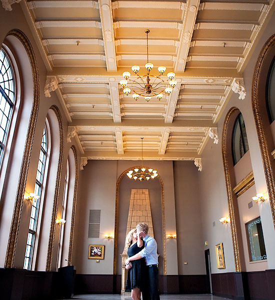 Another sneak peek.  Engagements at an awesome old hotel.