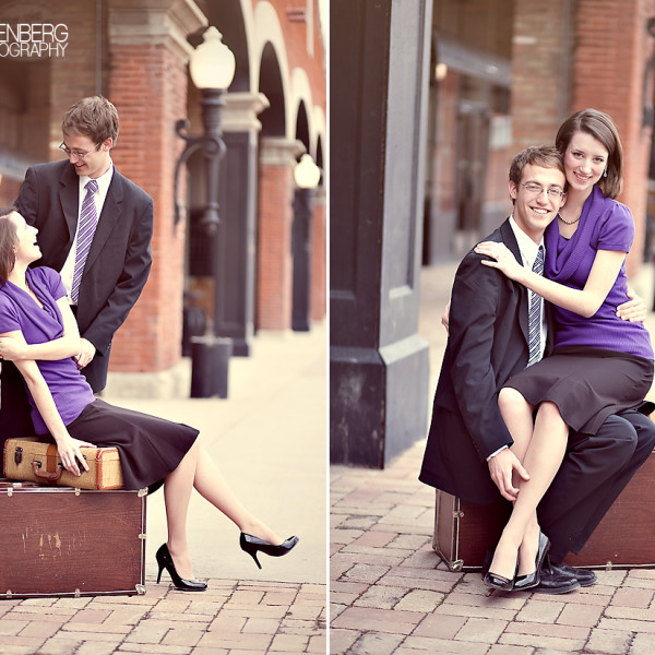 Engagement photos at Trolley Square and the Capitol!