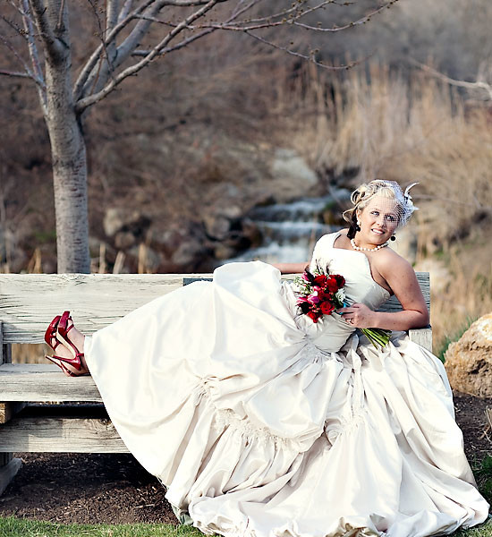Beautiful Bride at Red Butte Garden!