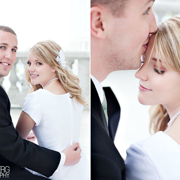 Beautiful groomals at Utah's State Capitol Building.