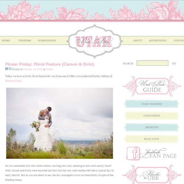 Featured on Utah Bride Blog