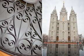 utah wedding photographer shooting at the salt lake city temple