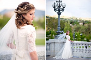 beautiful photos of a bride at utah state's capitol love these bridals!