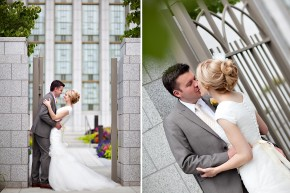 utah wedding at Draper Temple