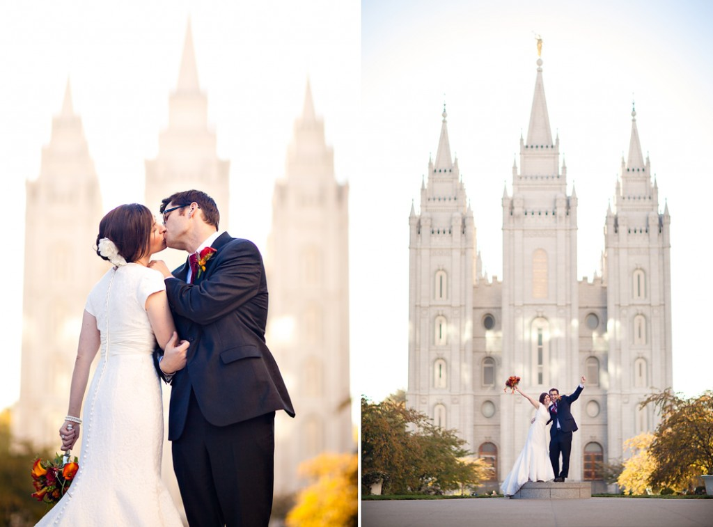 temple square wedding at the salt lake city temple in the empire room at jsmb