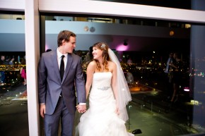 wedding at the tower at rice eccles stadium in salt lake city utah wedding photographer