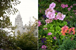fun wedding with lots of trendy details at salt lake city utah temple wedding