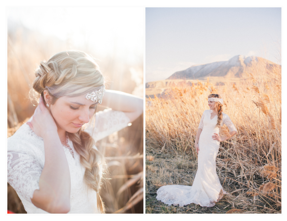 utah bridal photos taken just outside of salt lake city