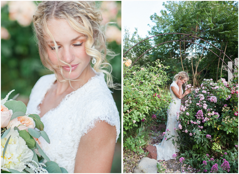 utah wedding photographer in rose garden