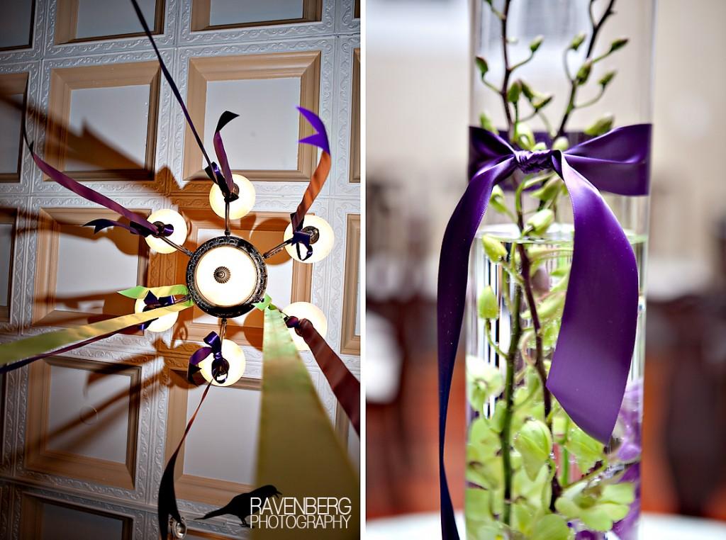 ribbon at utah wedding for decorations