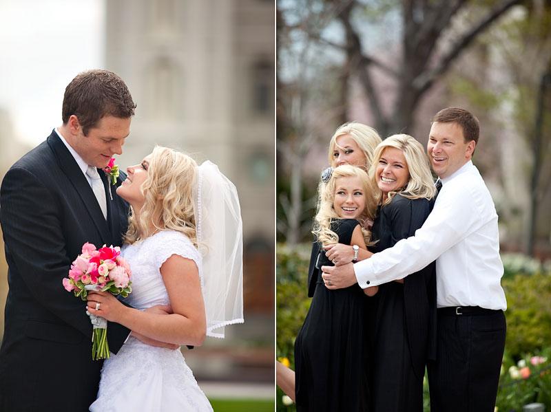 utah wedding photographer shoots wedding at lds salt lake temple