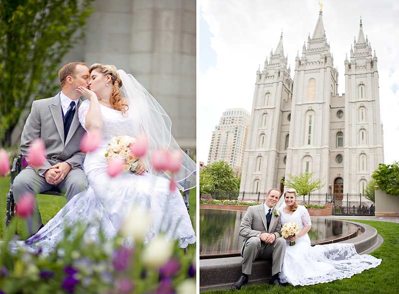 Salt Lake City Temple Wedding Photographer Shoots A At The In Utah