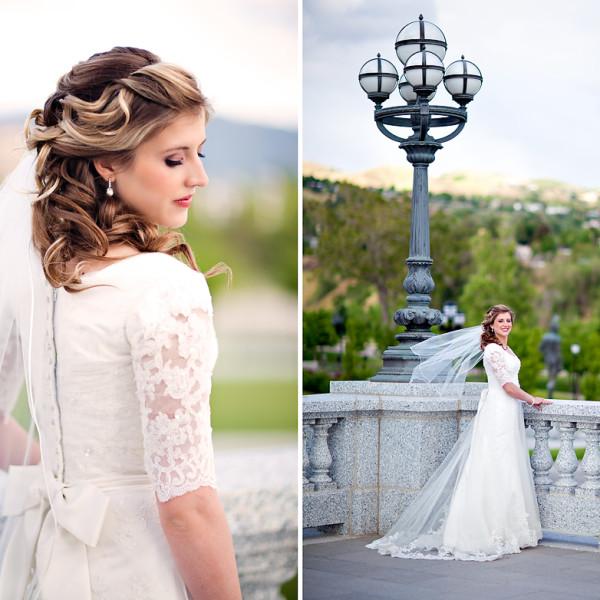 Utah Bride at the State Capitol