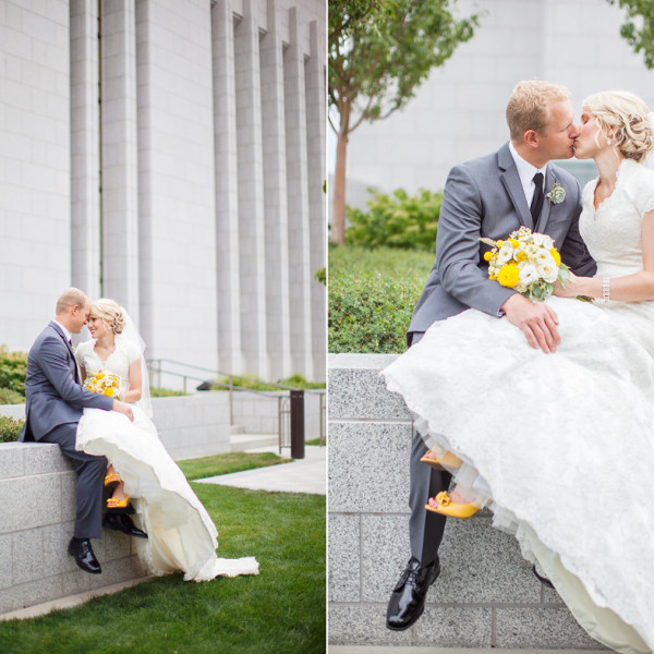Draper Temple Wedding that is adorable!