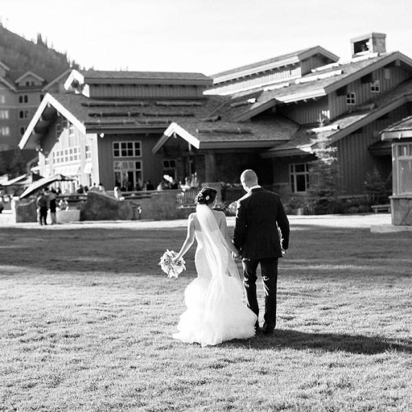Stunning wedding at Deer Valley's Empire Lodge
