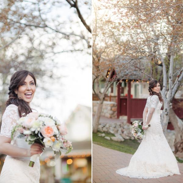 Bridal session at Gardner Village