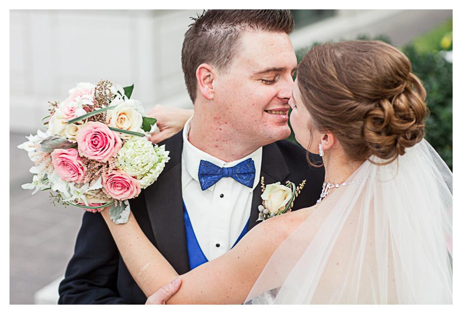 bride and groom do toasts at grand America wedding in Utah, Salt Lake City