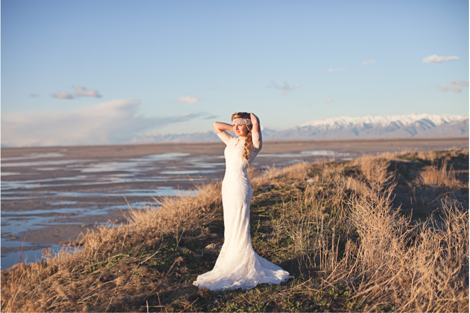 Utah bridals taken on the shores of the great salt lake, saltair