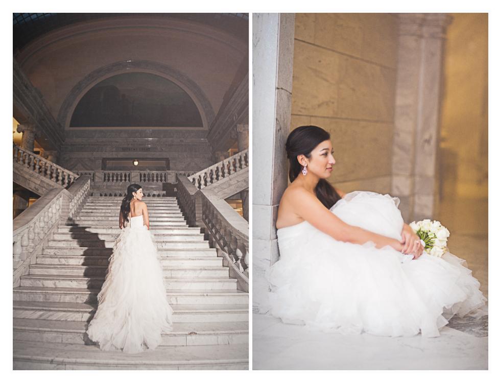 utah wedding photographer, state capitol bridals