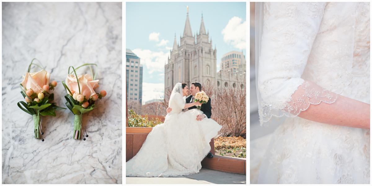 salt lake city wedding sweet beautiful couple's married