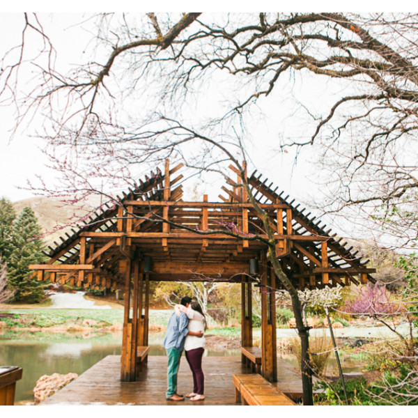 Red Butte Gardens Engagement Photos