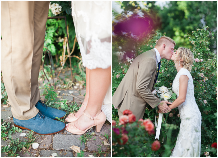 utah bride and groom in rose garden bridal locations