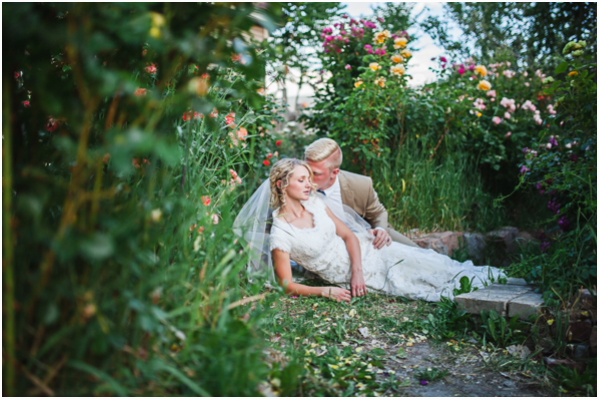 utah bridals in a rose garden bridals in flowers